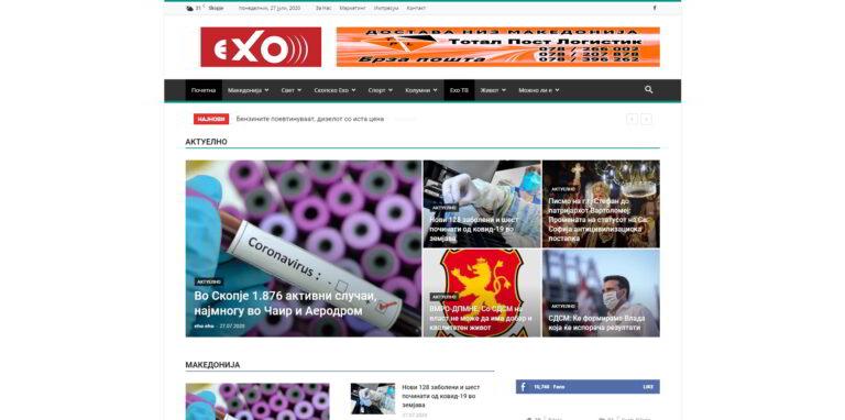 EHO - web portal