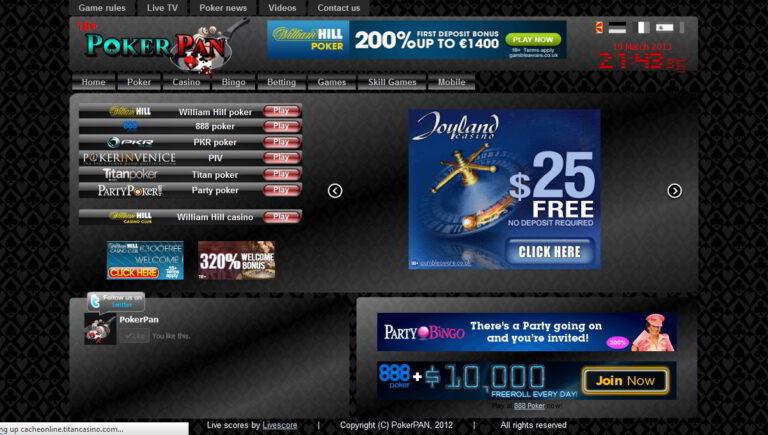 Poker Pan - gambling referral website